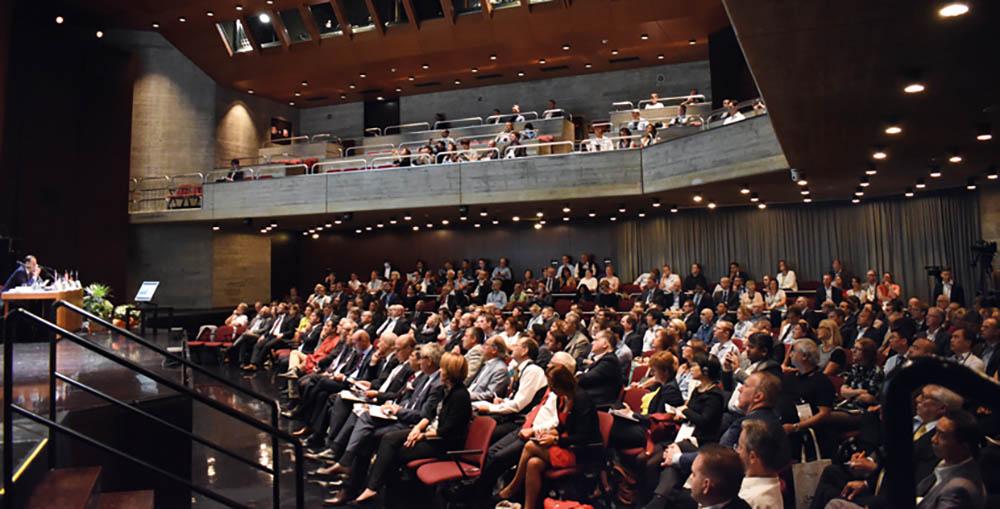 Opening session of the 57th Dornbirn Global Fiber Congress held in Dornbirn, Austria