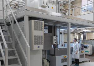 Fibre Extrusion Technology spunbond system at University of Leeds