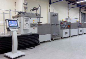 FET provides fiber extrusion lines for Senbis sustainable plastics testing lab