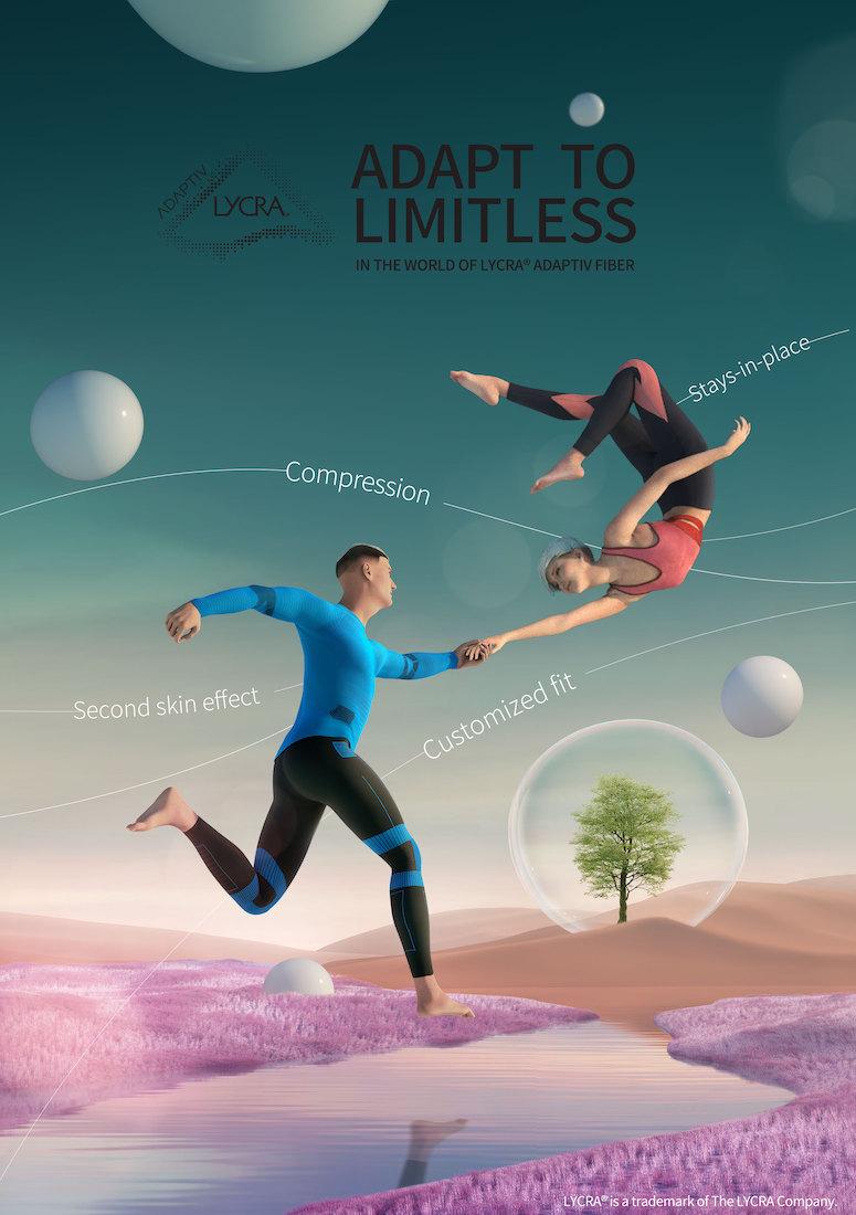 Lycra Adaptiv fiber for motion