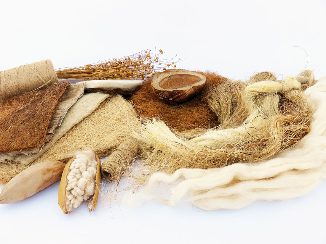 Palette of natural fibers