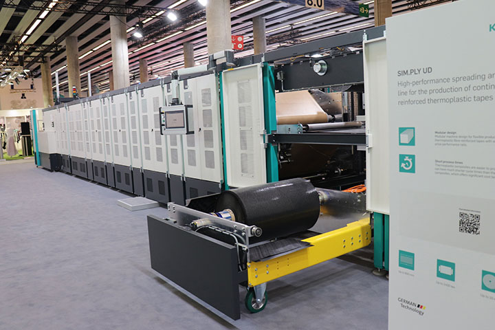 The Karl Mayer CopMax 4 multiaxial weaving system