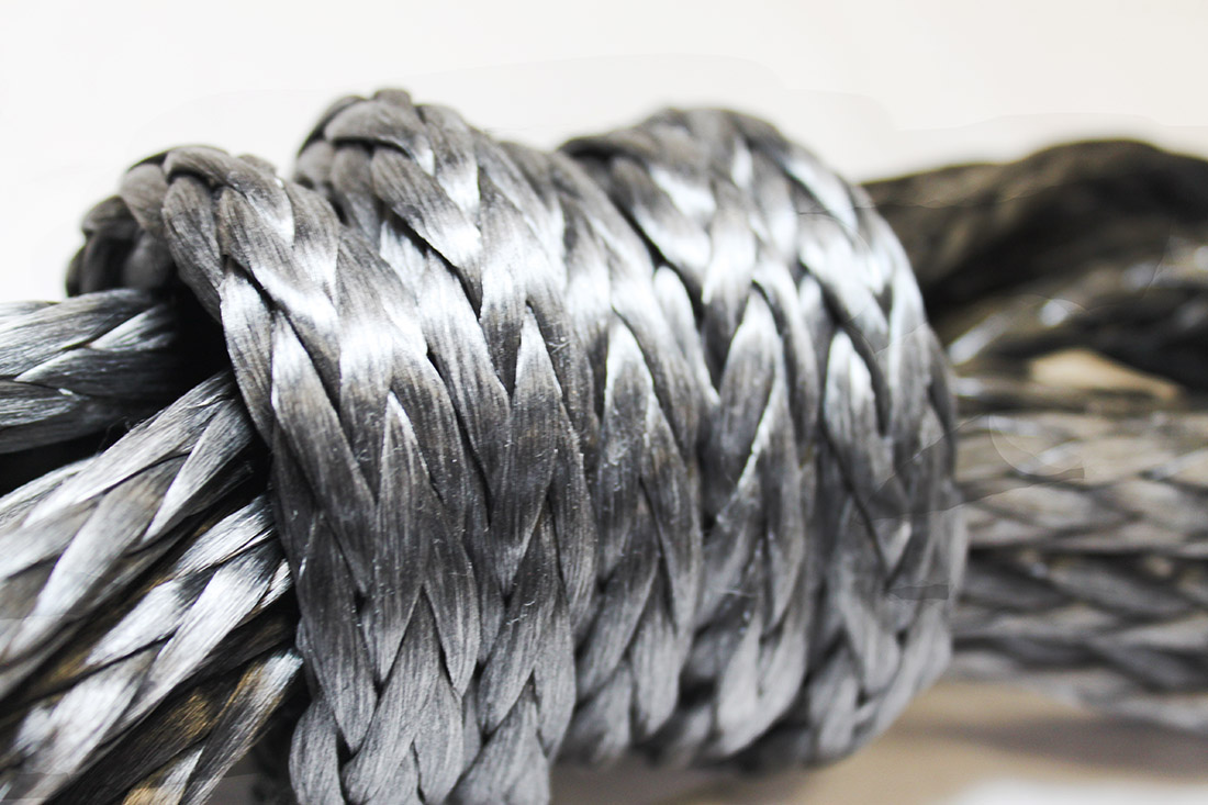 High-strength fibers like Dyneema has resulted in ropes that have 75% less weight