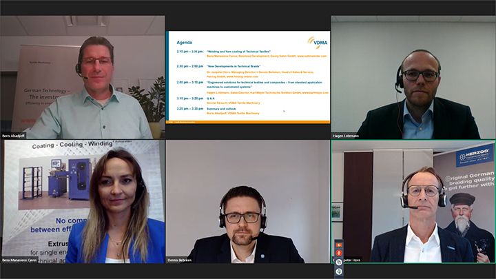 The panelists at the VDMA's tenth 2020 webinar in December