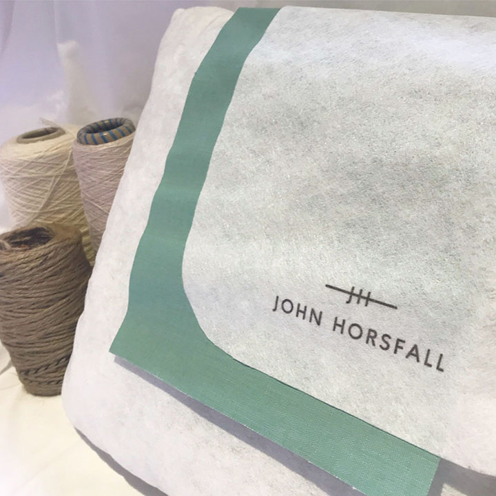 John Horsfall has developed a sustainable fabric to replace traditional polypropylene nonwovens