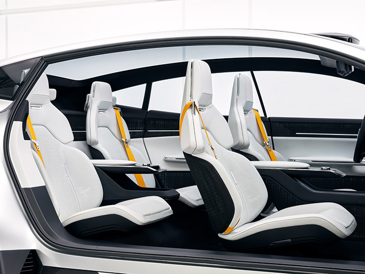 The Precept concept vehicle from Polestar will see a mix of sustainable materials
