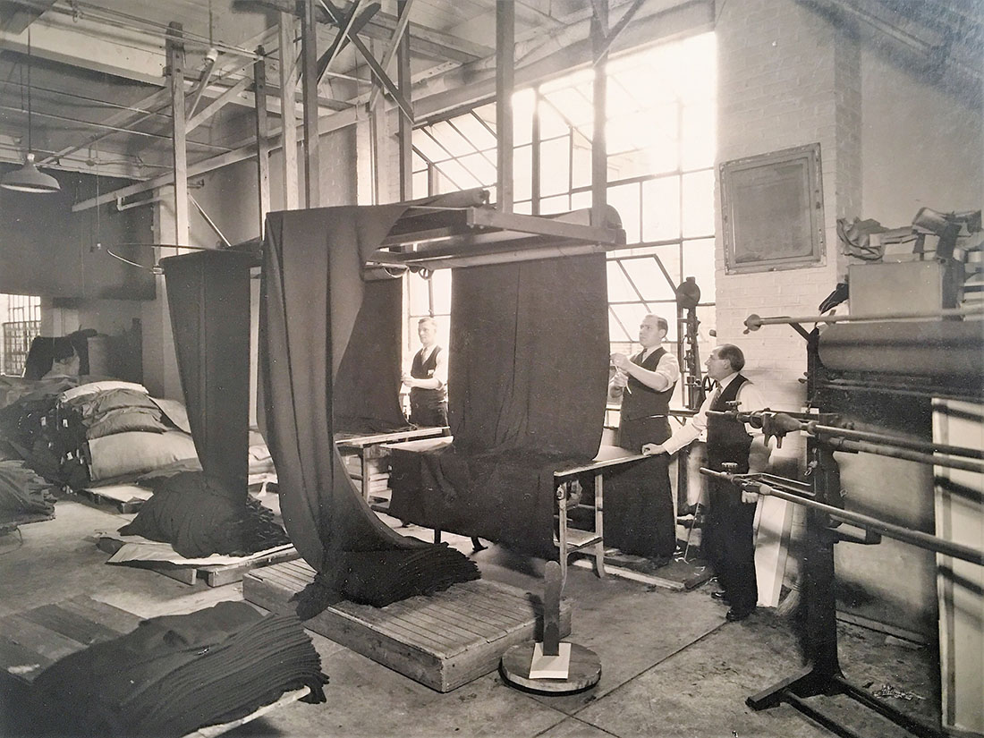 Until the early 1960s, the bulk of TSG's business was centered around processing wool suiting fabrics.