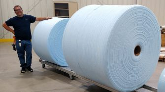 Large format spools, produced using Web Industries' proprietary spooling technology