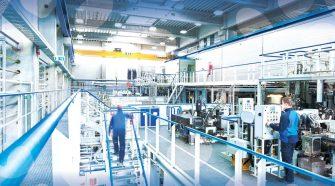 Nonwoven fiber production facility