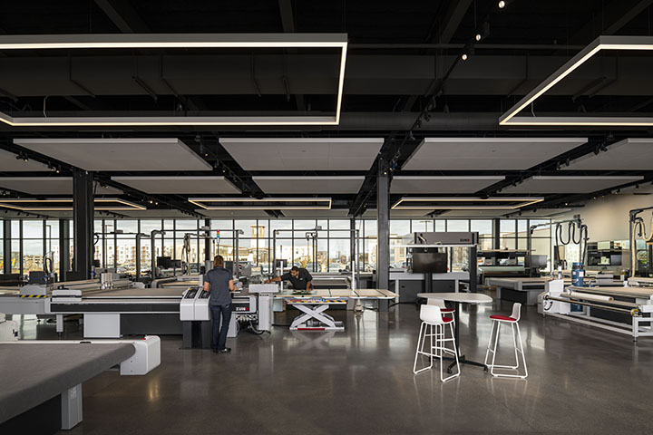 Zund America's North American HQ features a fully equipped Customer Experience Cente