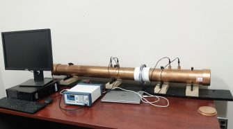 Impedance tube for measuring acoustic insulation