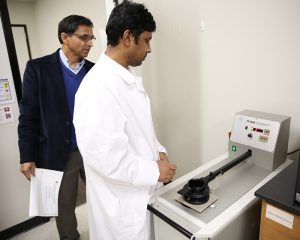 Measuring air permeability of nonwoven materials.