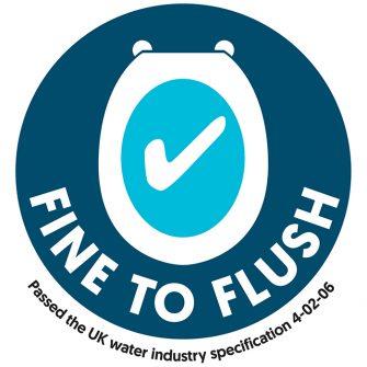 Fine to Flush label