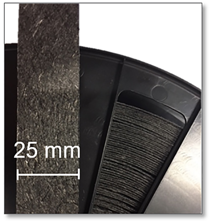 RecyTape – highly oriented tape based on recycled carbon fibers.