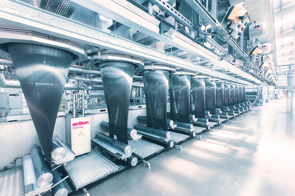 Oerlikon Neumag one-step staple fiber plant