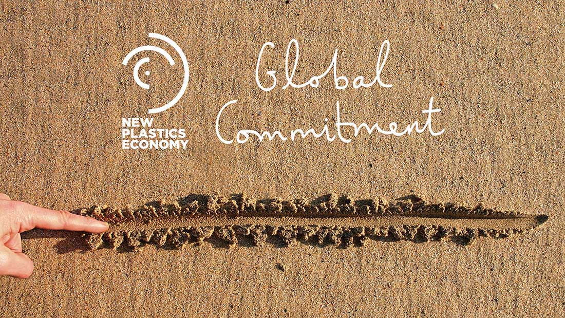 The New Plastics Economy Global Commitment logo