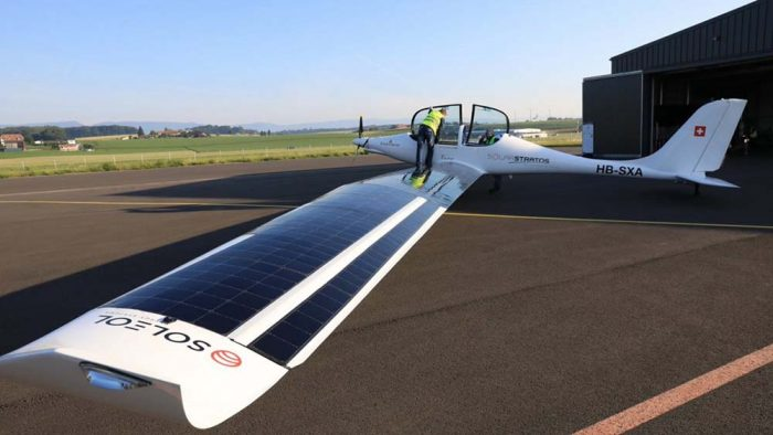 two-seater solar airplane