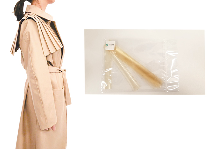 Tandem Repeat Technologies' prototype of cotton jacket with Squitex adhesives