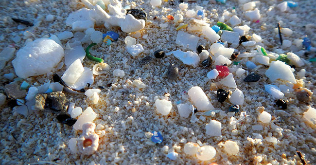 Microplastics are small plastic pieces less than 5 mm long that can be harmful to oceans and aquatic life.